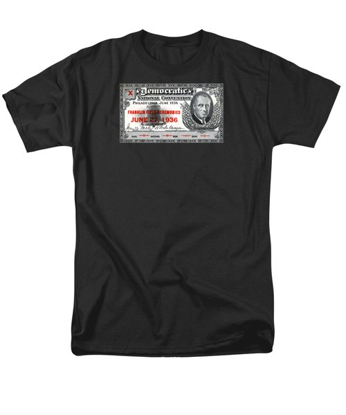 1936 Democrat National Convention Ticket Men's T-Shirt  (Regular Fit) by Historic Image