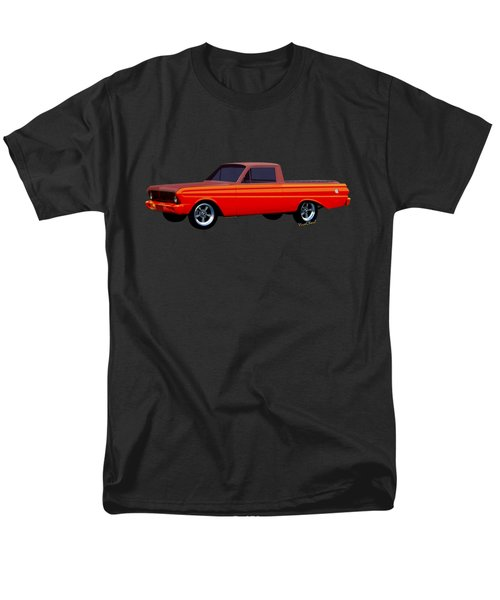 1965 Ford Falcon Ranchero Day At The Beach Men's T-Shirt  (Regular Fit) by Chas Sinklier