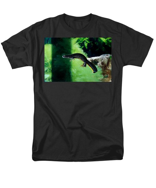 Alpine Newt Triturus Alpestris Men's T-Shirt  (Regular Fit) by Gerard Lacz