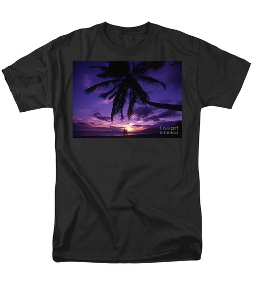 Palm Over The Beach T-Shirt by Ron Dahlquist - Printscapes