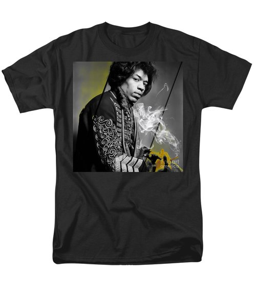 Jimi Hendrix Collection Men's T-Shirt  (Regular Fit) by Marvin Blaine