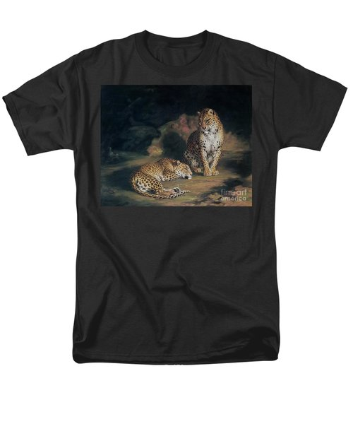 A Pair Of Leopards Men's T-Shirt  (Regular Fit) by William Huggins