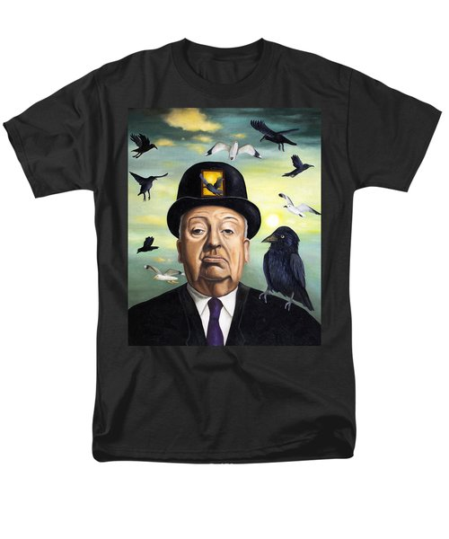 Alfred Hitchcock T-Shirt by Leah Saulnier The Painting Maniac