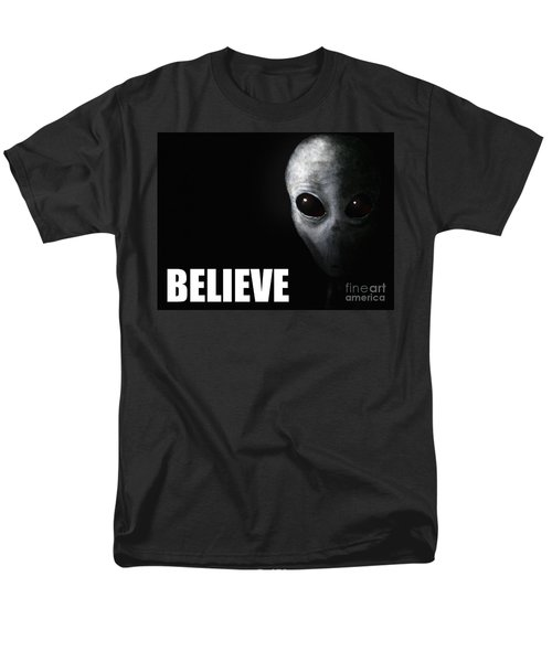 Alien Grey - Believe T-Shirt by Pixel Chimp