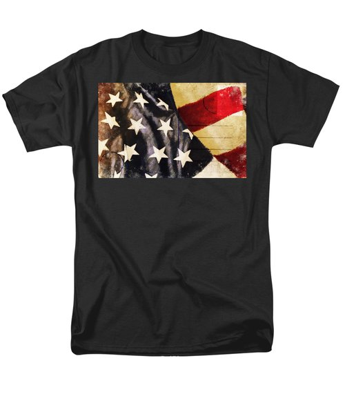 America flag pattern postcard T-Shirt by Setsiri Silapasuwanchai