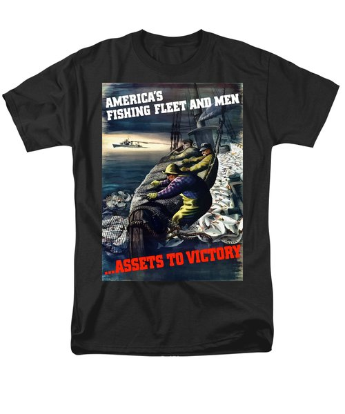 America's Fishing Fleet And Men  T-Shirt by War Is Hell Store
