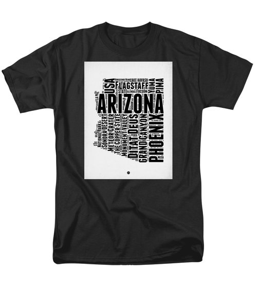 Arizona Word Cloud Map 2 Men's T-Shirt  (Regular Fit) by Naxart Studio