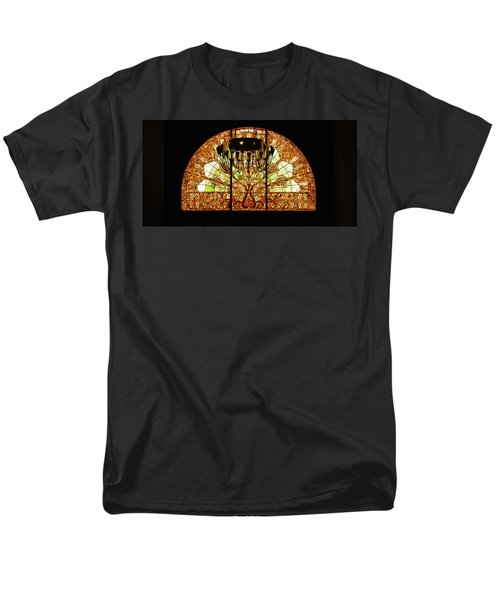 Artful Stained Glass Window Union Station Hotel Nashville T-Shirt by Susanne Van Hulst