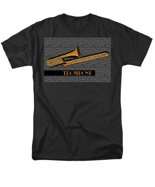 Trombone Tunes Men's T-Shirt  (Regular Fit) by Cecely Bloom