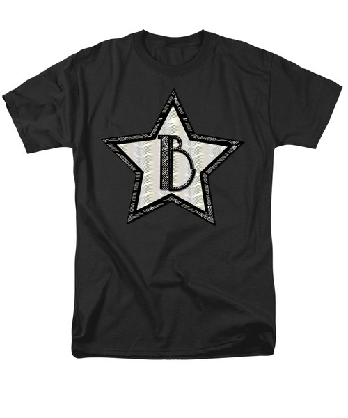 Star Of The Show Art Deco Style Letter B Men's T-Shirt  (Regular Fit) by Cecely Bloom