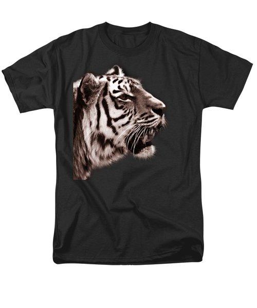 Siberian Tiger Profile Men's T-Shirt  (Regular Fit) by Crystal Wightman