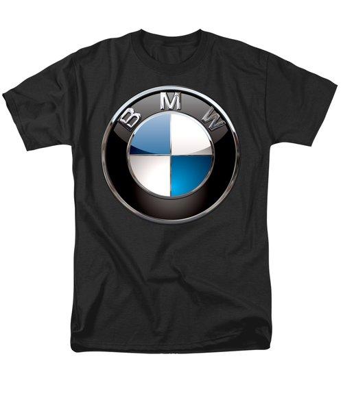 B M W - 3d Badge On Black Men's T-Shirt  (Regular Fit) by Serge Averbukh