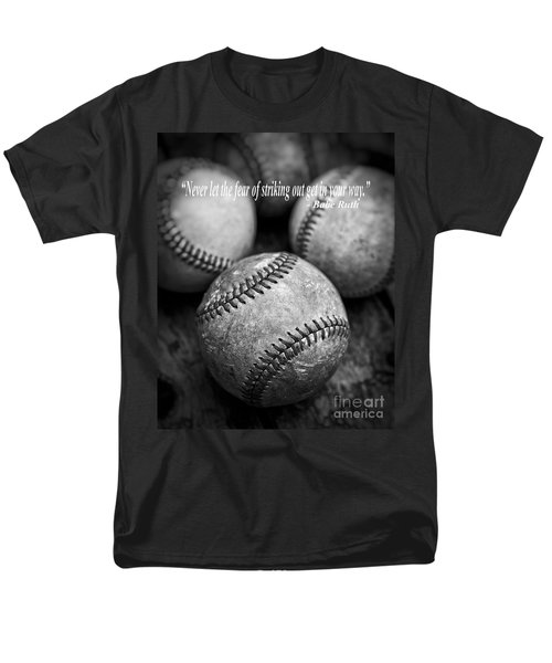 Babe Ruth Quote Men's T-Shirt  (Regular Fit) by Edward Fielding