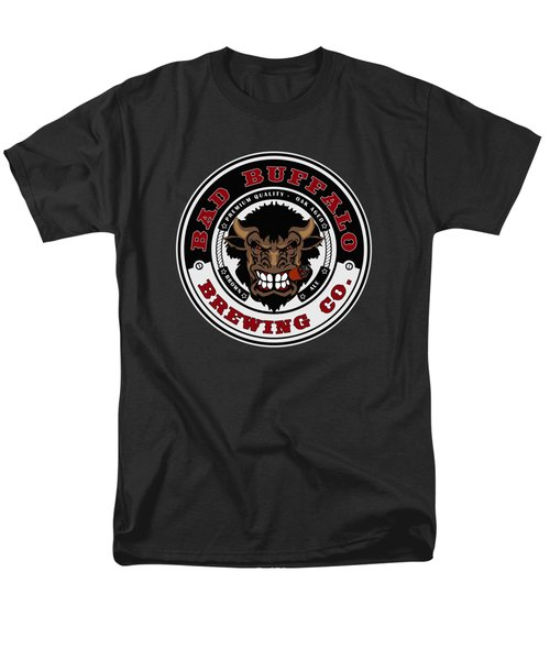Bad Buffalo Brewing Men's T-Shirt  (Regular Fit) by Christopher Williams