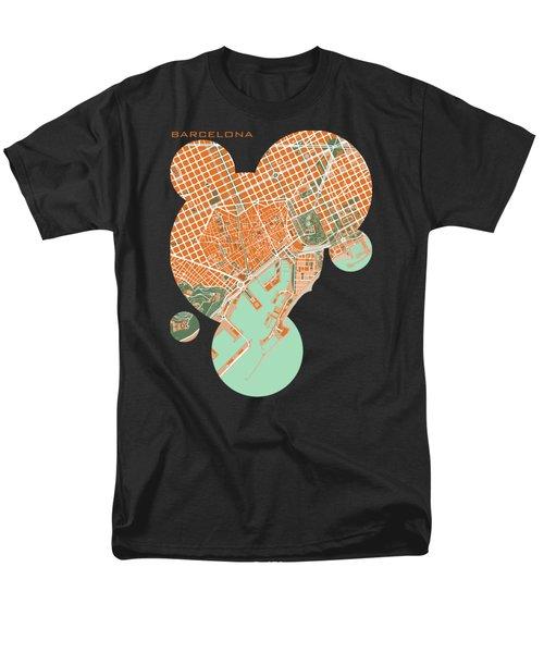 Barcelona Orange Men's T-Shirt  (Regular Fit) by Jasone Ayerbe- Javier R Recco