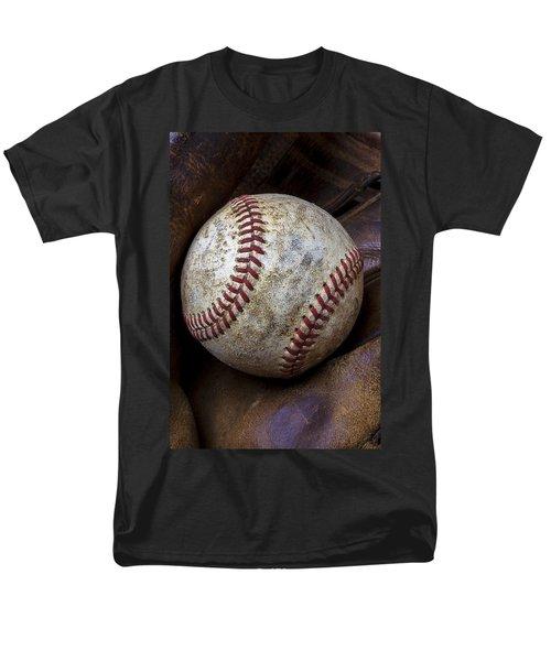 Baseball Close Up T-Shirt by Garry Gay