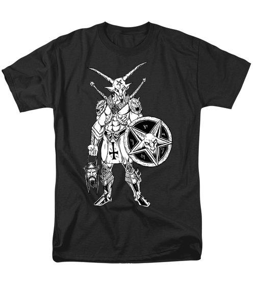 Battle Goat Black Men's T-Shirt  (Regular Fit) by Alaric Barca