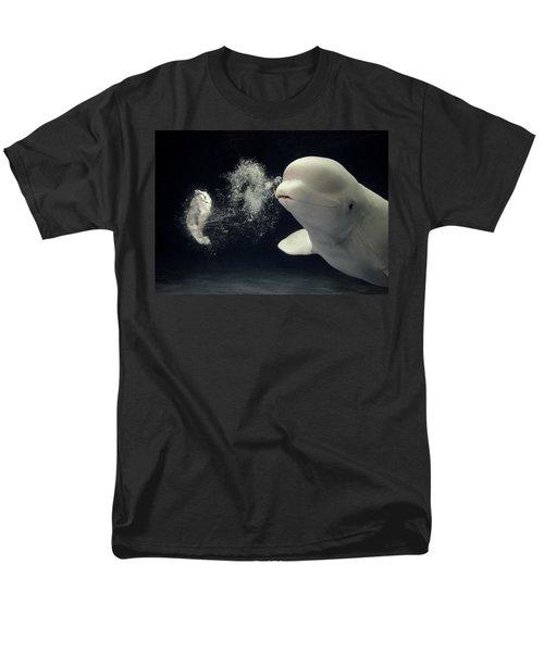 Beluga Delphinapterus Leucas Whale T-Shirt by Hiroya Minakuchi