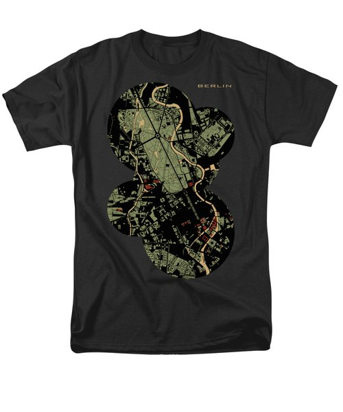 Berlin Engraving Map Men's T-Shirt  (Regular Fit) by Jasone Ayerbe- Javier R Recco