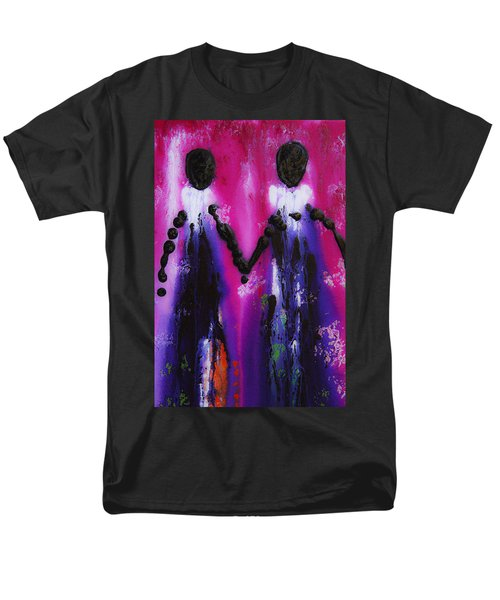 Best Friends Forever - BFF Love And Devotion Art T-Shirt by Sharon Cummings