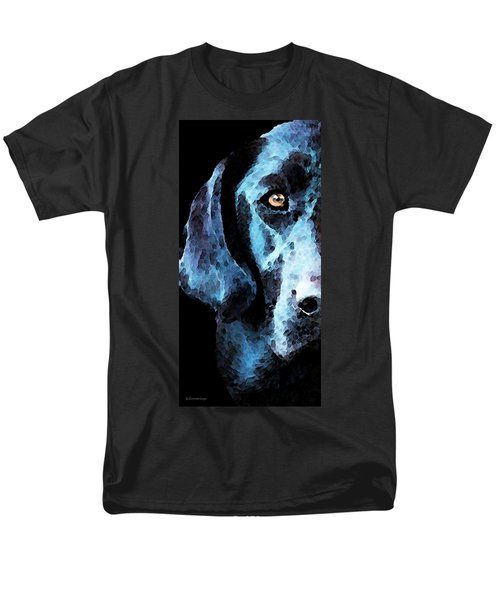 Black Labrador Retriever Dog Art - Hunter T-Shirt by Sharon Cummings