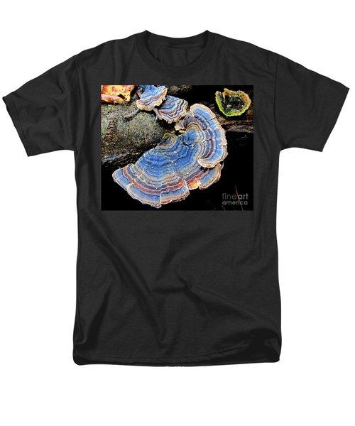 Blue Turkeytail Fungi T-Shirt by Joshua Bales