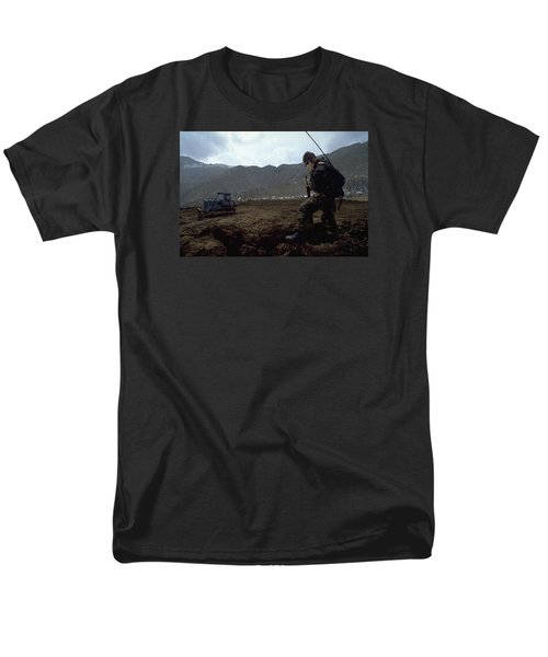Men's T-Shirt  (Regular Fit) featuring the photograph Boots On The Ground by Travel Pics