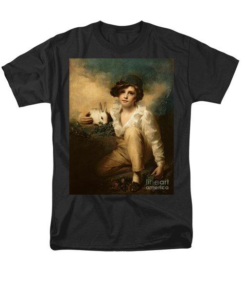 Boy And Rabbit Men's T-Shirt  (Regular Fit) by Sir Henry Raeburn