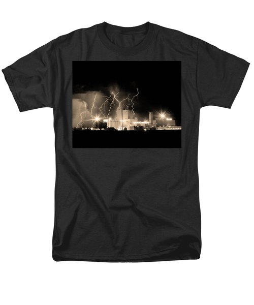 Budweiser Lightning Thunderstorm Moving Out BW Sepia Crop T-Shirt by James BO  Insogna