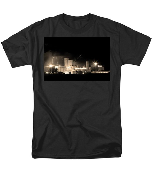 Budwesier Brewery Lightning Thunderstorm Image 3918  BW Sepia Im T-Shirt by James BO  Insogna