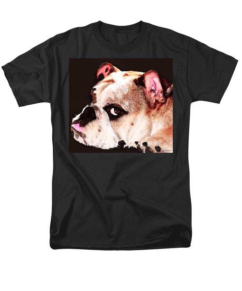 Bulldog Art - Let's Play T-Shirt by Sharon Cummings
