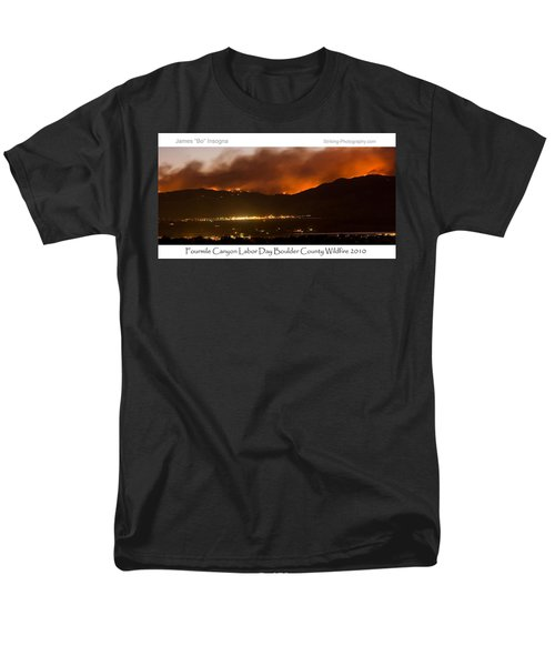 Burning Foothills Above Boulder Fourmile Wildfire Panorama Poster T-Shirt by James BO  Insogna