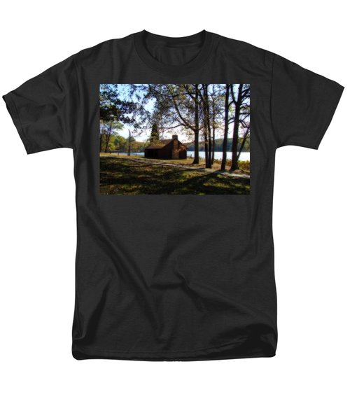 Cabin by the Lake T-Shirt by Sandy Keeton