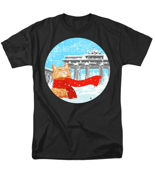 Cat With Scarf Men's T-Shirt  (Regular Fit) by Carolina Matthes