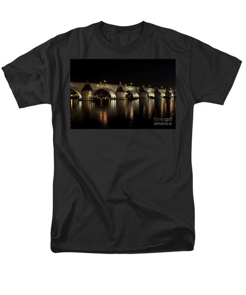 Charles bridge at night T-Shirt by Michal Boubin