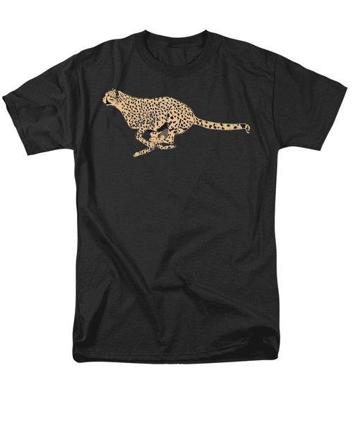 Cheetah Flash Men's T-Shirt  (Regular Fit) by Teresa  Peterson