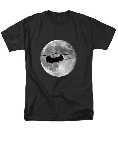 Chinook Moon .png Men's T-Shirt  (Regular Fit) by Al Powell Photography USA