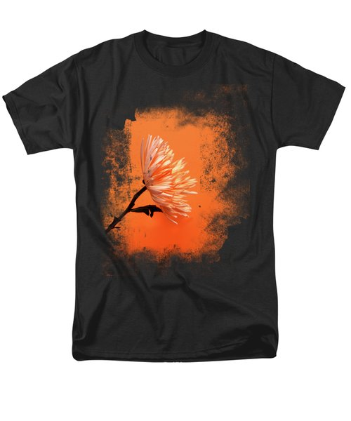 Chrysanthemum Orange Men's T-Shirt  (Regular Fit) by Mark Rogan