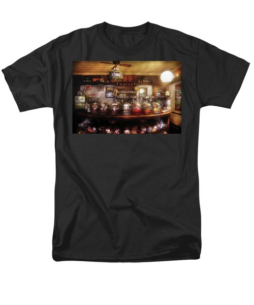 City - NY 77 Water Street - The candy store T-Shirt by Mike Savad