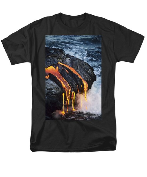Close-up Lava Men's T-Shirt  (Regular Fit) by Don King - Printscapes