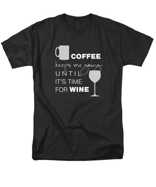 Coffee And Wine Men's T-Shirt  (Regular Fit) by Nancy Ingersoll