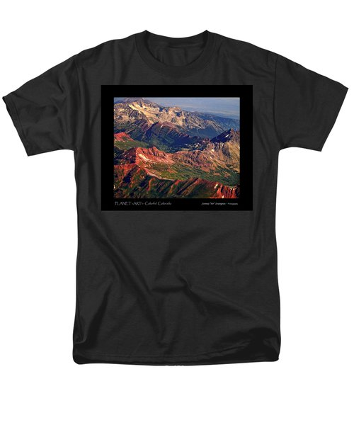 Colorful Colorado Rocky Mountains Planet Art Poster  T-Shirt by James BO  Insogna