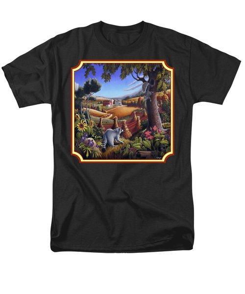 Coon Gap Holler Country Landscape - Square Format Men's T-Shirt  (Regular Fit) by Walt Curlee