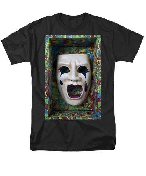 Crying mask in box T-Shirt by Garry Gay