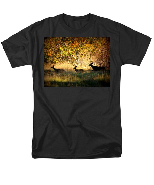 Deer Family in Sycamore Park T-Shirt by Carol Groenen