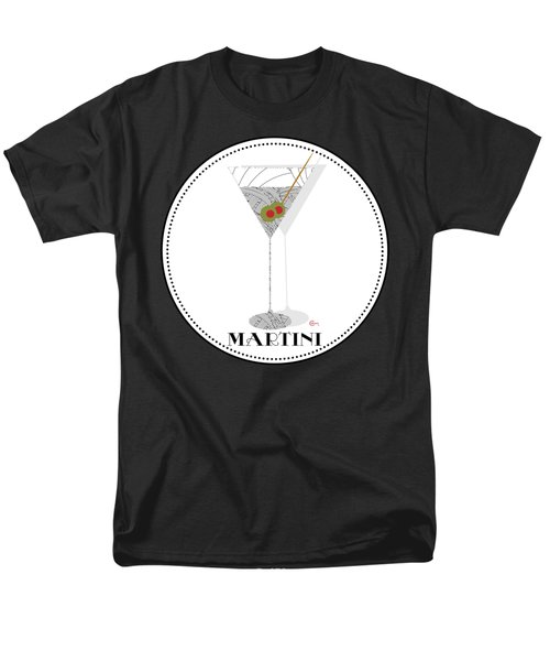 Dry Martini Cocktail Pop Art Deco Men's T-Shirt  (Regular Fit) by Cecely Bloom