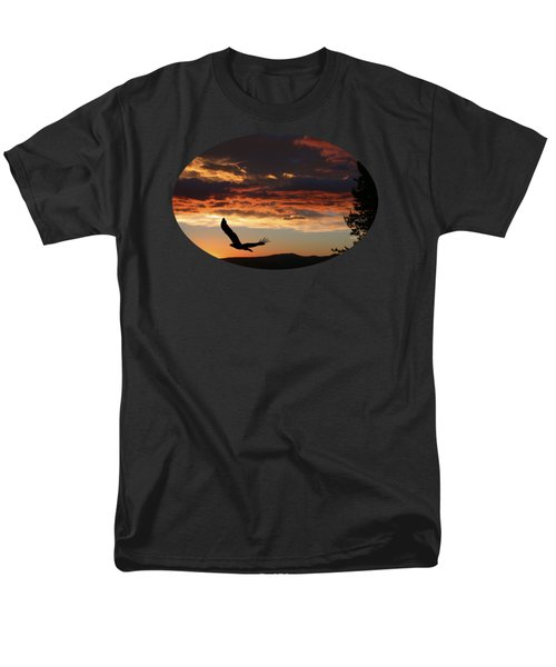 Eagle At Sunset Men's T-Shirt  (Regular Fit) by Shane Bechler