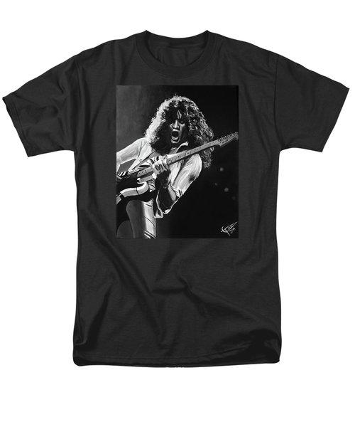 Eddie Van Halen - Black And White Men's T-Shirt  (Regular Fit) by Tom Carlton