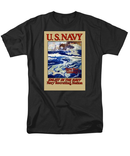 Enlist In The Navy T-Shirt by War Is Hell Store
