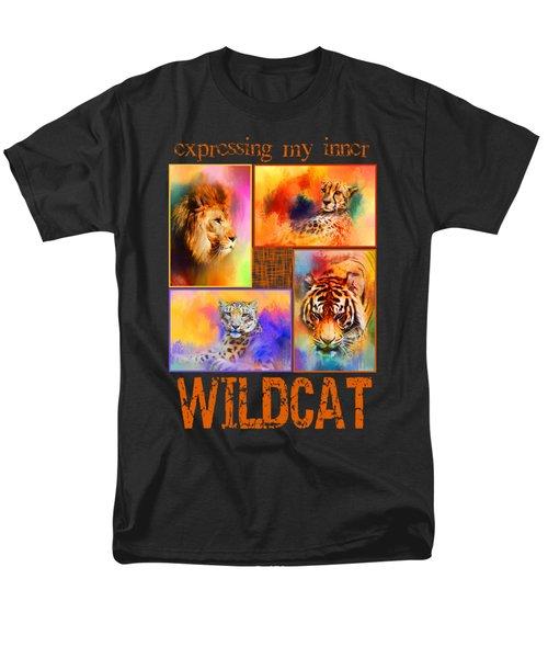 Expressing My Inner Wildcat Men's T-Shirt  (Regular Fit) by Jai Johnson